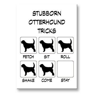 OTTERHOUND Stubborn Tricks FRIDGE MAGNET Steel Case Funny