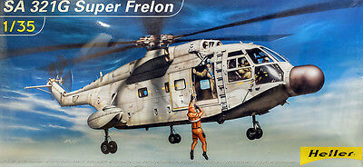 SA 321G Super Frelon Helicopter Hubschrauber 1:35 Model Kit Bausatz Heller 80489