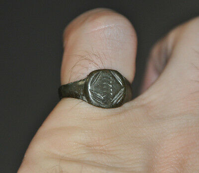 Ancient Roman Empire Soldier Legionary Fully Wearable Bronze Ring Sz US 8.5