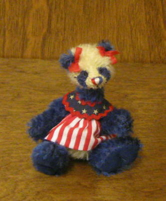 "DEB CANHAM Artist Designs LIBERTY LOU 4th of July Patriotic Coll. 3.75"" LE PANDA"