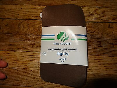 NWT Girl Scout Brownie Brown Tights size Small 5-7