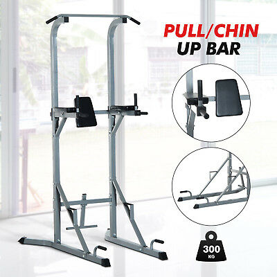 HOMCOM Power Tower VKR Pull & Dip Chin Up Bar Station Sit Up Raise Workout AB