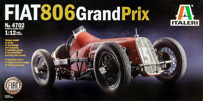 1927 Fiat 806 Grand Prix 406 Spinto Corsa 1:12 Model Kit Bausatz Italeri 4702