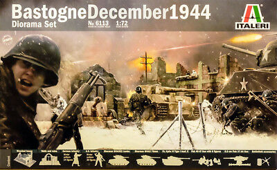 Bastogne December 1944 Diorama Set Belagerung Szene 1:72 Model Kit Italeri 6113