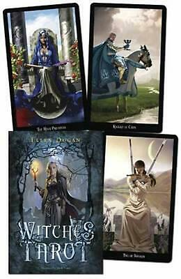 Witches Tarot [With Cards] by Ellen Dugan (English) Hardcover Book Free Shipping