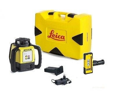 Rotating Laser Leica Rugby 620 w/ Rod Eye 140 & Li-ion Battery Package 6005984