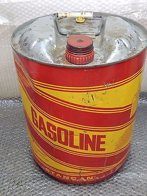 Vintage,Stanco Standard Container Co. 5 Gallon Gasoline Can, METAL ADVERTISING