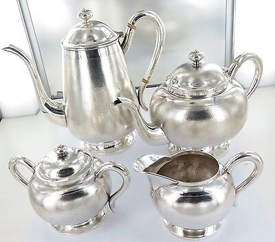 .absolutely Stunning / Rare Chinese Tientsin Sterling Silver Export Ware Tea Set