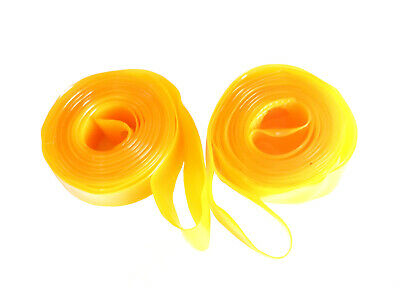 Rim Tape Strips (pair) Hi Pressure PVC 700C Yellow Saint RS700X16PVC