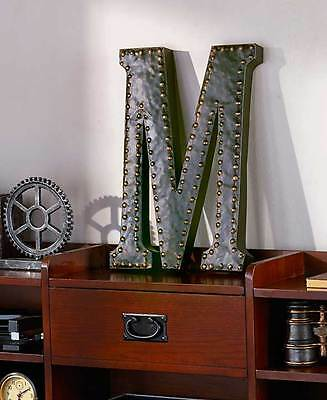 Vintage Metal Monogram Letters Industrial Style Wall Hanging Art Room Home Decor