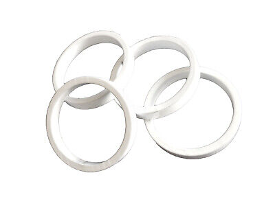 "Headset Spacers Budget set of 4 1-1/8"" x 5mm x 34mm White 13016-10WH"