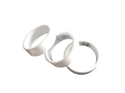 "Headset Spacers Budget set of 4 1-1/8"" x 10mm x 34mm White 13016-5WH"