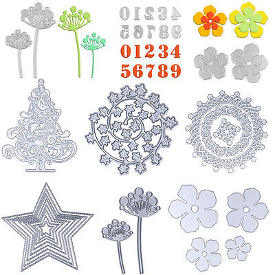 9 Pattern Metal Flowers DIY Cutting Dies Cut Die Stencil Decorative Scrapbooking