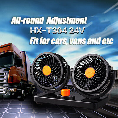 Portable 24V Car Vehicle Truck 360° All-Round Rotation Air Fan Adjustable Cooler