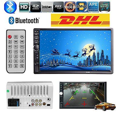 7'' Touch Bluetooth HD Autoradio Stereo MP3 MP5 Player AUX/SD/USB/Remote 2DIN