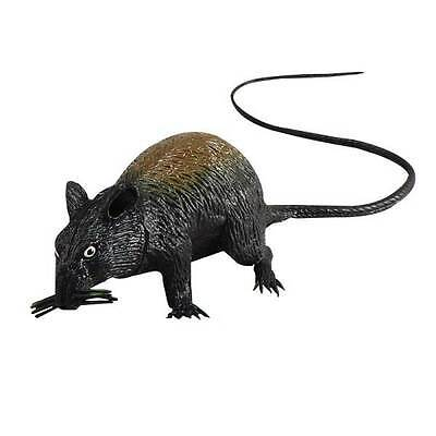 Fake,Rubber Rat Squeaking,Large,Halloween Animal Prop, Fancy Dress,Decoration