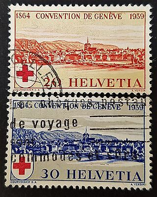 Switzerland 1939 Sc # 268 to Sc # 269 VFU NH Used Stamps Collection