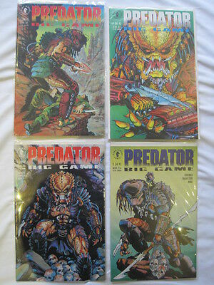 "PREDATOR : ""BIG GAME"" complete 4 issue series by ARCUDI & DORKIN. DARK HORS.1991"