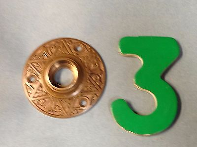 Antique Vintage Bronze Russell And Erwin 1870's Ornate Door Knob Rosette Lot 3 • CAD $22.77