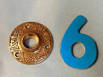 Antique Vintage Bronze Russell And Erwin 1870's Ornate Door Knob Rosette Lot 6