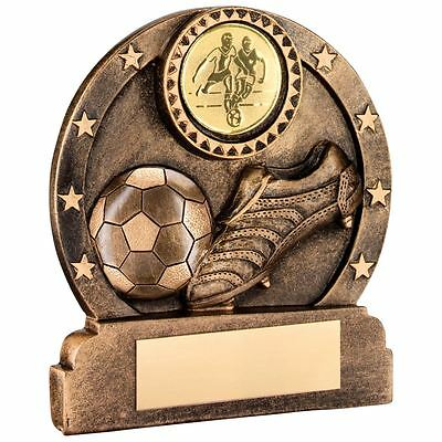 JR1-RF370A Brz/Gold Resin Football Trophy - 3.25in Includes Free Engraving
