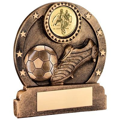 JR1-RF370B Brz/Gold Resin Football Trophy - 3.75in Includes Free Engraving