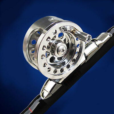 Silver Firm Aluminum High Quality Sea Ice Fly Fishing Line Wheel Skillful Reel
