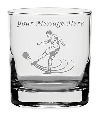 Personalised Engraved Whisky Glass With Footballer Design
