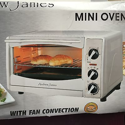 Andrew James Qf To18Lawh Mini Oven & Grill With 1Hr Timer, White