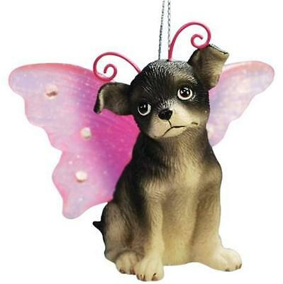Chihuahua Dog Winged Christmas Ornament Figurine Gift Box Collectible