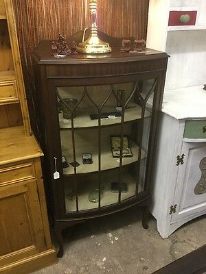 Period Glazed Display Cabinet, Working Lock And Key