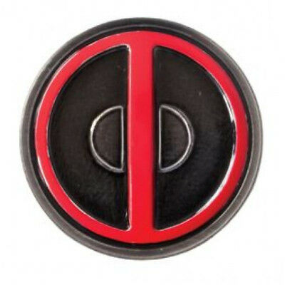 Marvel Comics Deadpool Eyes Logo Colored Metal Pewter Lapel Pin, NEW UNUSED