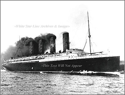 Photo: RMS Lusitania's Engine Test During Sea Trials, July, 1907