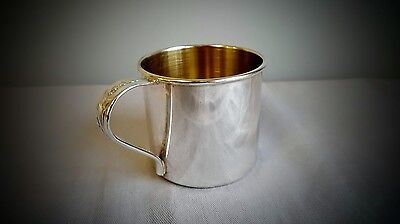 Rare Baby Cup Song of Autumn Oneida Community Silver Plate (Gold Inside)