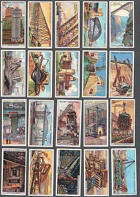 1927 Wills's Cigarettes Engineering Wonders Tobacco Cards Complete Set of 50