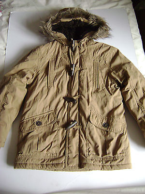 Girls Or Boys Brown Hooded Jacket From George Fit Age 7-8 Years