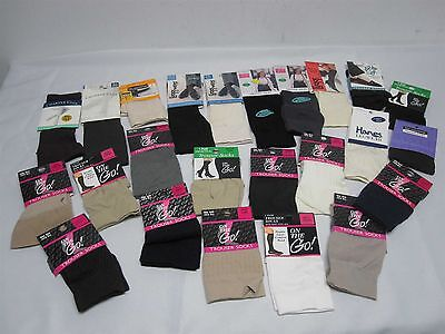 24 Prs Womens Trouser Socks Mint! New! On The Go! Leggs, & More 1 Size Fits All