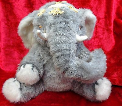 Vintage Merrythought Soft Grey Fluffy Circus Nellie the Elephant