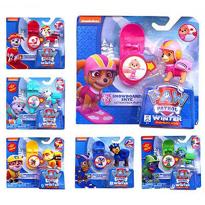 Fun Paw Patrol Figures Backpack Projectile+Snowboard Kids Boy Girl Toy Xmas Gift