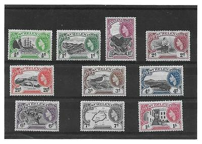 St Helena 1953 Pictorials Short Set To 1/- Sg.153-162 Lightly Mounted Mint--Mlh