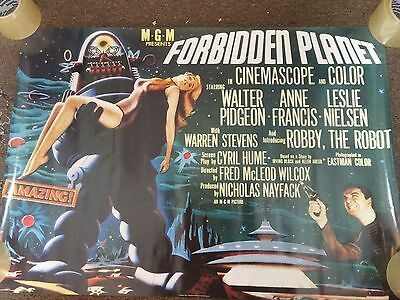 """1996 MGM Presents Forbidden Planet Movie Poster 24"""" x 34"""""""