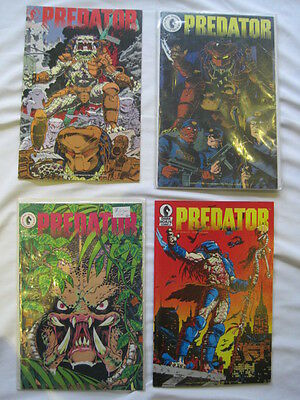 PREDATOR : COMPLETE 1st EVER 4 ISSUE MINI SERIES by VERHEIDEN & WARNER. DH.1989