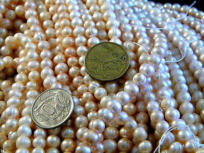 """Ebay Lowest Price 6-8Mm Freshwater Pearl Beads 37Cm 15"""""""