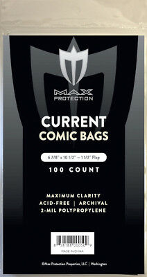 600 Max Pro Current / Modern Comic Book Archival Poly Bags - 6 7/8 X 10 1/2