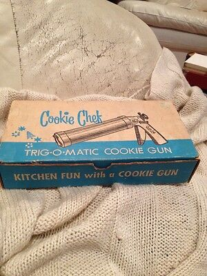 Vintage Cookie Chef Trig-O-Matic Cookie Pastry Gun Press Pastry Decorator