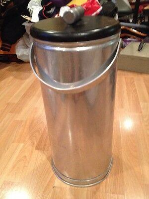 """Vintage Aluminum Ice Bucket Wine Champaigne Insulated ? Cooler W/ Lid Handle 13"""""""