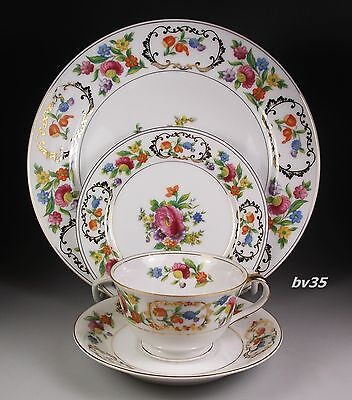 NORITAKE DRESDENA 4 PIECE PLACE SETTINGS - dinner & bread plate, cup & saucer