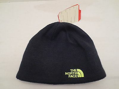 The North Face Bones Beanie Tnf Black Knit Cap Hat Youth One Size Kids