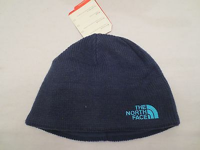 The North Face Bones Beanie Tnf Cosmic Blue Knit Cap Hat Youth One Size Kids
