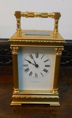 large 4 pillar striking brass cased  carriage clock [house of spice]